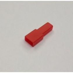 FUNDA FASTON HEMBRA 6.3mm ROJA 10 UNIDADES