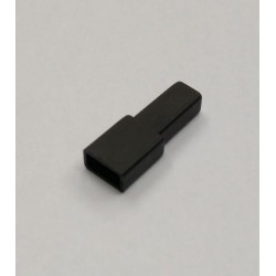 FUNDA FASTON HEMBRA 6.3mm NEGRA 100 UNIDADES
