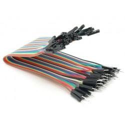 Juego 40 cables macho-hembra 200mm varios colores