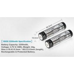XTAR Batería 3,7V 2200mA Circuito de Protección