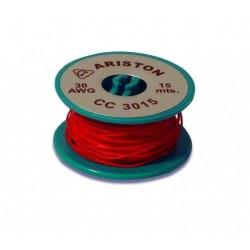 Hilo rigido  wrapping AWG 30 rojo 15m