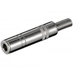 CONECTOR HEMBRA JACK 6,3mm ESTEREO METALICO
