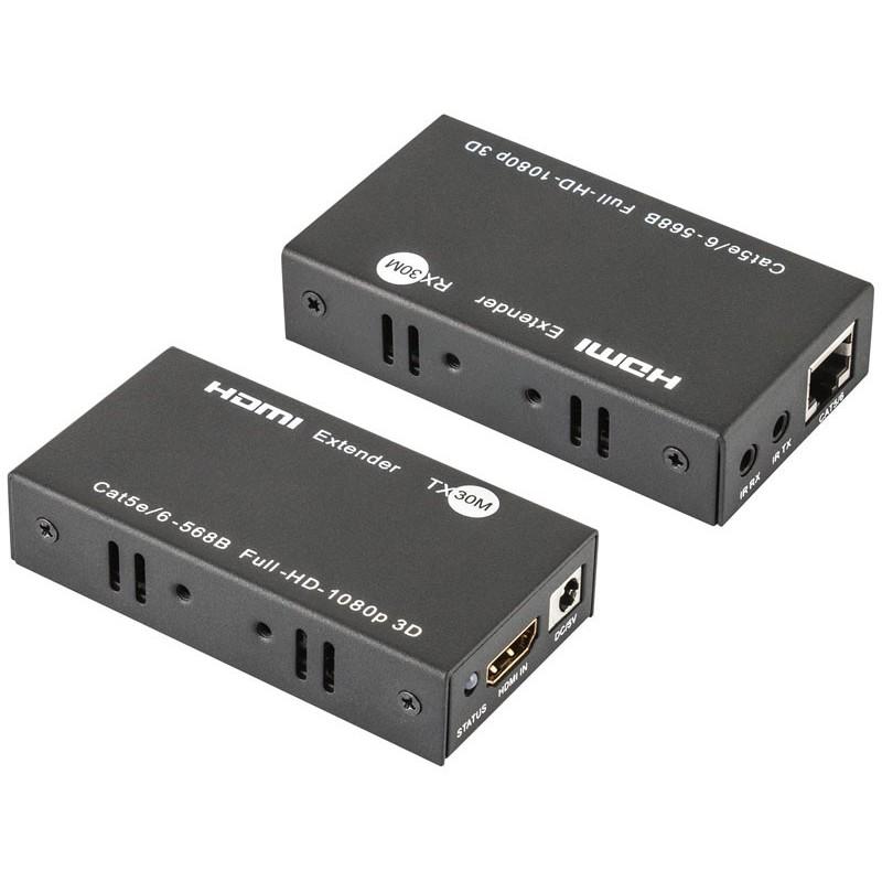 Prolongador activo de HDMI por 1 RJ45 hasta 30m