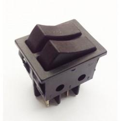 Interruptor unipolar doble tecla.