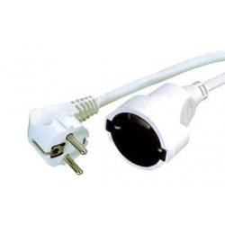 Prolongador cable H05VV-F 3x1.5mm 3 metros blanco.