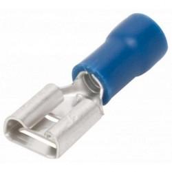 TERMINAL FASTON HEMBRA  AZUL 6,3mm 10 UNIDADES