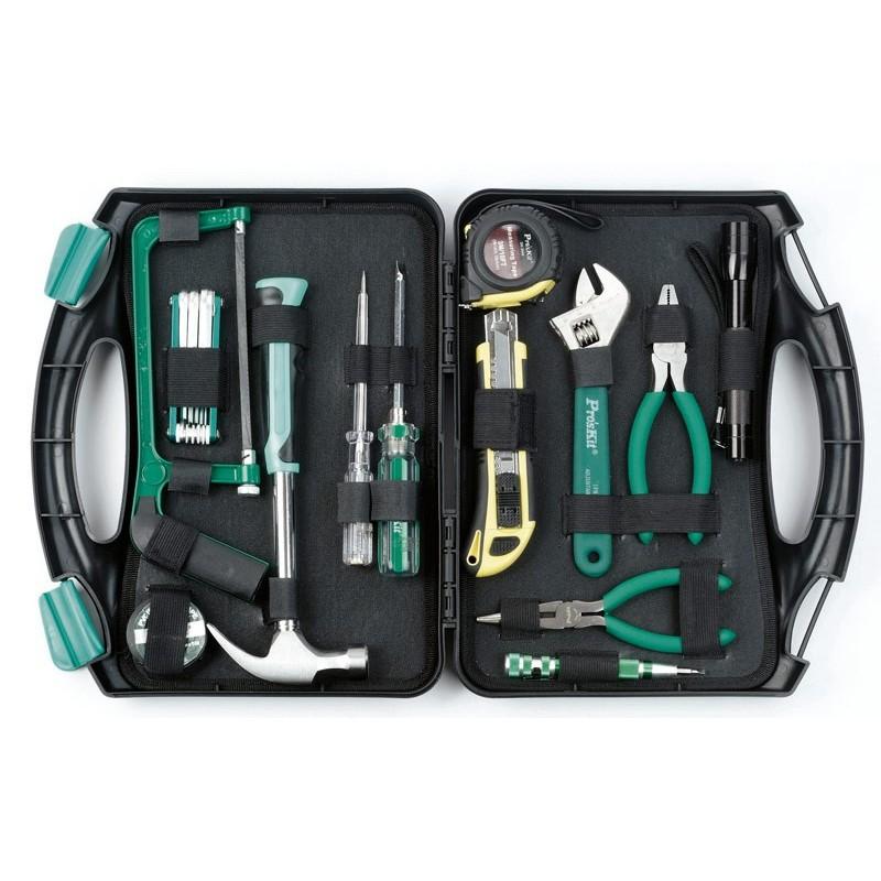 Juego de herramientas doméstico, maletín rígido