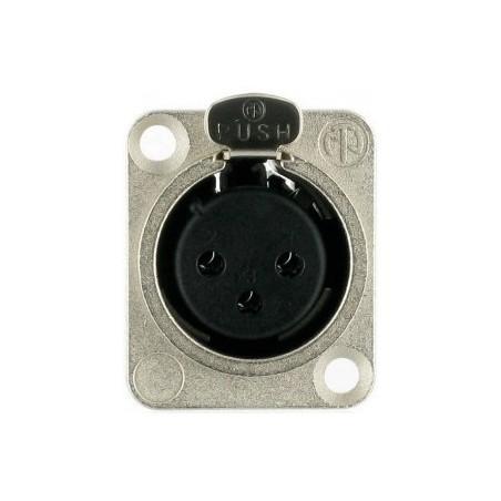 Neutrik NC 3 FLDX Conector chasis hembra XLR 3 pin