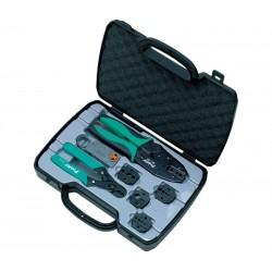 Kit de herramientas para crimpar coaxiales