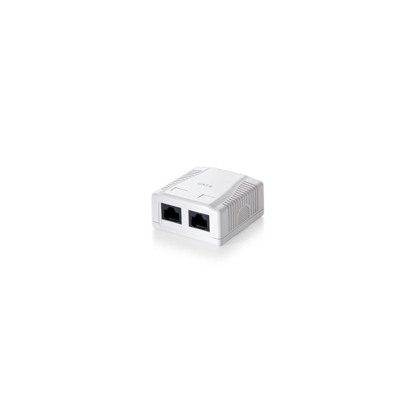Base superficie RJ45 CAT 6 2 salidas