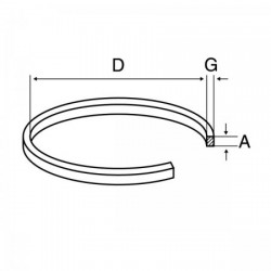 CC024 CORREA CASSETTE D 95mm 1,20mm X 1,20mm