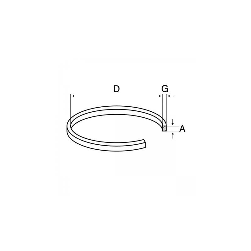 CC043 CORREA CASSETTE D 95mm 0,60mm X 4mm