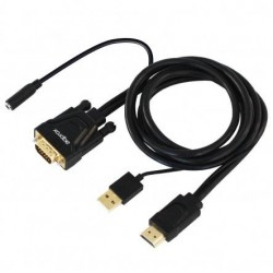 APPROX CONVERSOR HDMI A VGA + AUDIO JACK 3,5mm