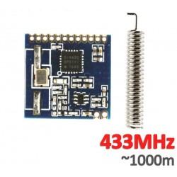 Módulo RF SI4432 433Mhz con antena 1 Km aprox.