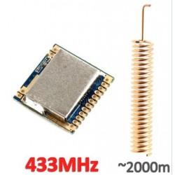 Módulo RF SI4463 433Mhz con antena 2 Km aprox.