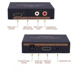 Extractor de audiodel HDMI por RCA y Thoslink.