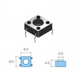 SW061 Pulsador circuito impreso 4,3mm altura