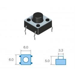 SW065 Pulsador circuito impreso 5mm altura