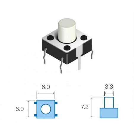 SW067 Pulsador circuito impreso 7,3mm altura