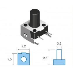 SW068 Pulsador circuito impreso horizontal