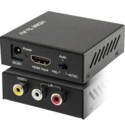 CONVERSOR HDMI A VIDEO COMPUESTO + AUDIO