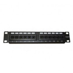 PATCH PANEL DE 12 PUERTOS CAT 6 10""
