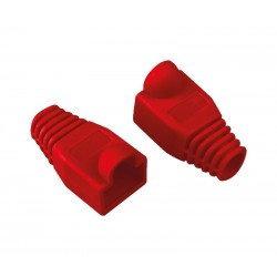 FUNDA PROTECTORA RJ45 CAT 5/6 COLOR ROJO
