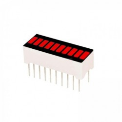 BARRA LED ROJO 10 SEGMENTOS