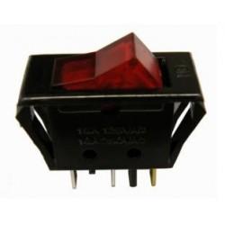 Interruptor unipolar luminoso rojo