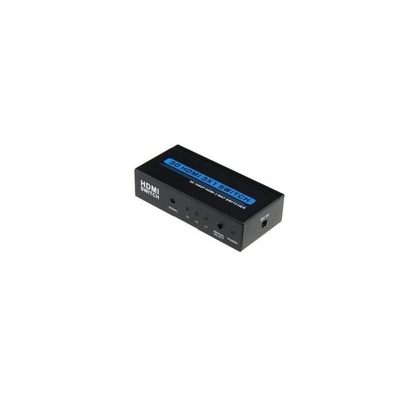 Selector 3 entradas HDMI 1.4 con mando.