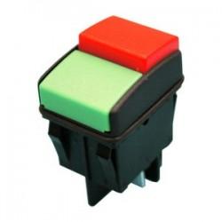 Dos interruptores unipolares a pulsador.