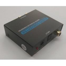 Conversor de audio digital optico a 2 RCA.