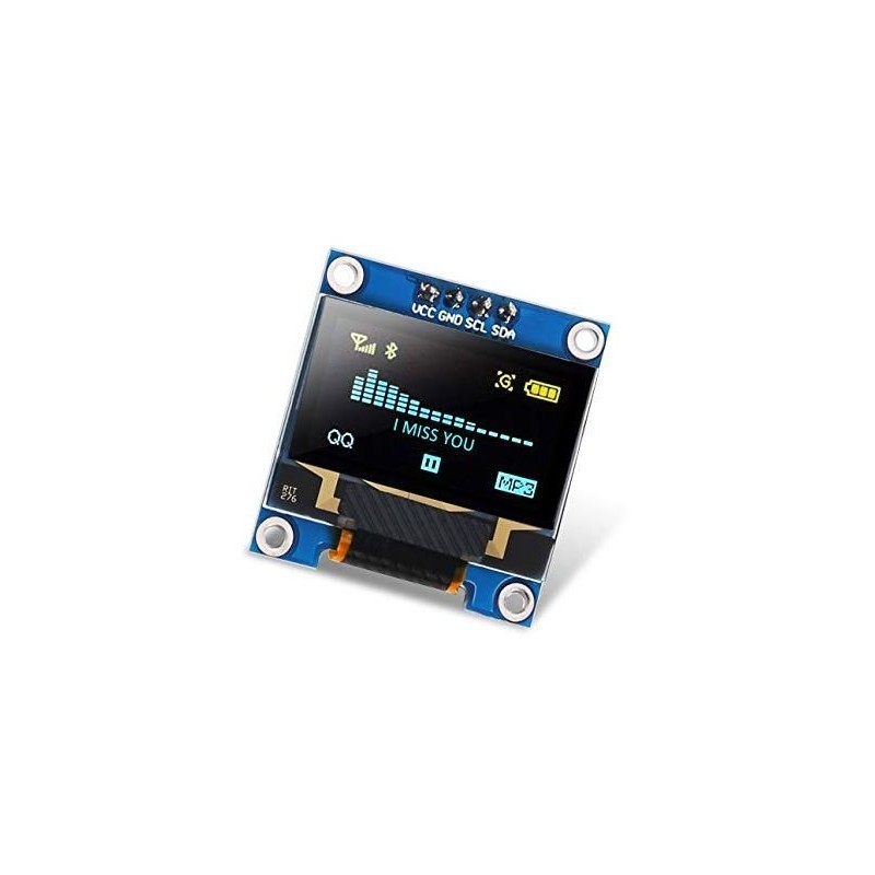"DISPLAY 0,96"" 128x64 OLED I2C AMARILLO Y AZUL"