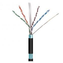 Cable RJ45 Cat.6 FTP rígido negro exterior 100m.