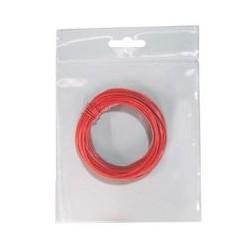 Cable de conexión. 0,50mm flexble rojo 10 mts