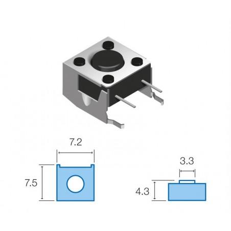 SW069 Pulsador circuito impreso horizontal