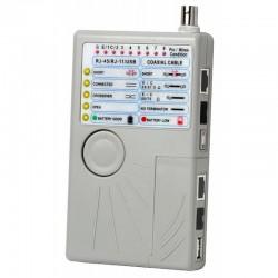 Tester de conexiones RJ11-RJ45-BNC y USB