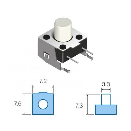 SW071 Pulsador circuito impreso horizontal