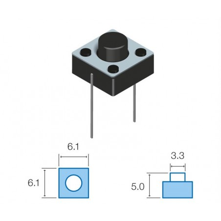 SW072 Pulsador circuito impreso