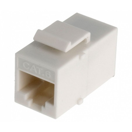 Adaptador RJ45 Cat.6 UTP hembra-hembra para panel.