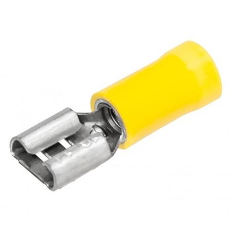 TERMINAL FASTON HEMBRA 6,3mm PREAISLADO 100 UNID.