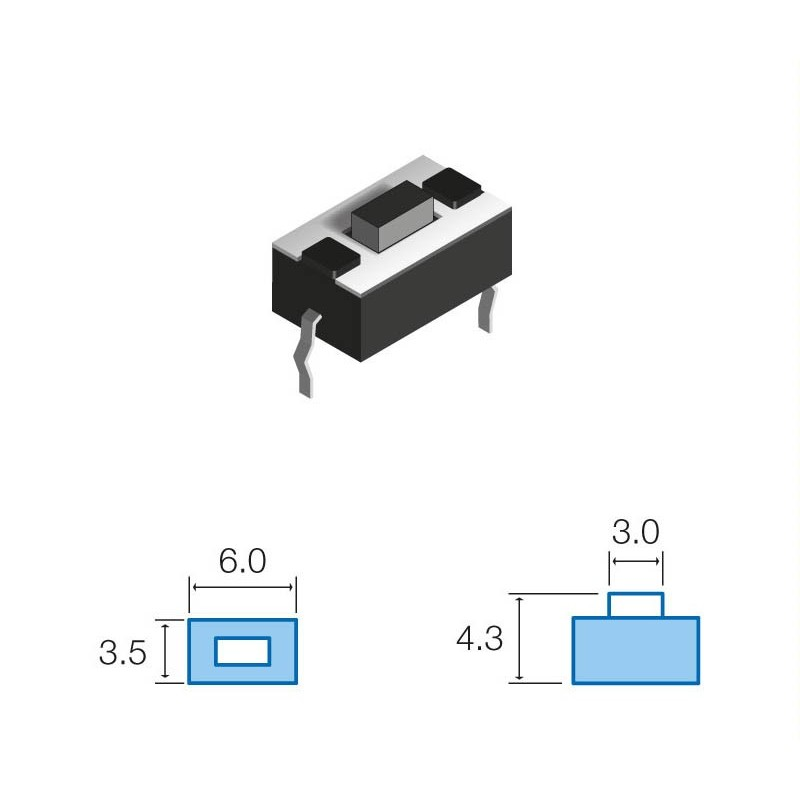 SW074 Pulsador circuito impreso