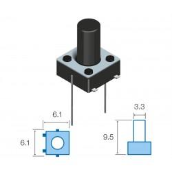 SW076 Pulsador circuito impreso
