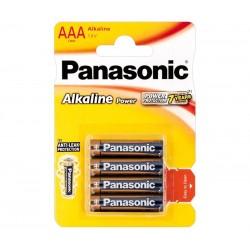 PILA ALCALINA PANASONIC LR03, AAA 4UNIDADES