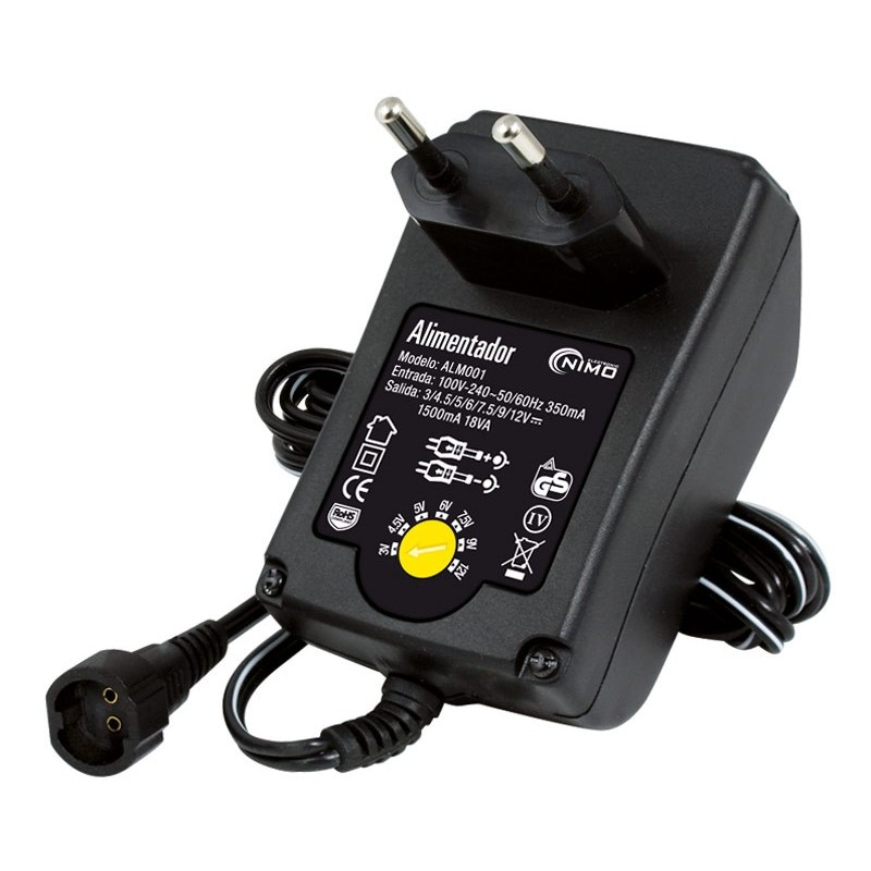 ALM001 de 3 a 12v 1500mA 18w Alimentador Regulable