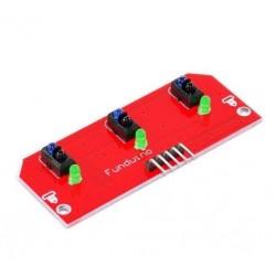 Módulo sensor infrarrojo reflectivo de 3 canales