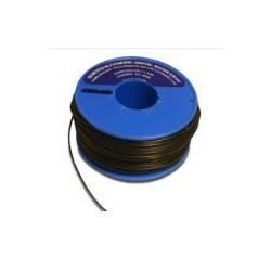 Carrete hilo conexión  0,28 rígido negro 100metros