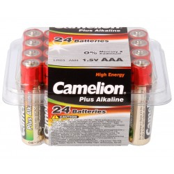 PACK 24 PILAS ALCALINAS CAMELION LR3, AAA