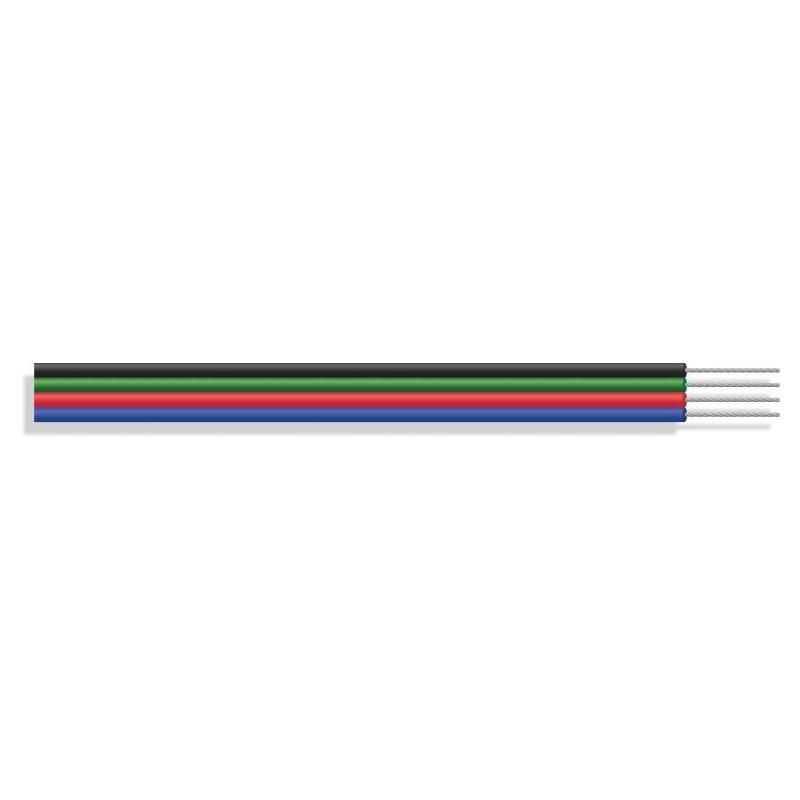 Cinta Plana RGB LED de 4 conductores