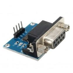 MODULO MAX 3232 CONVERSOR RS232 A TTL CON LED